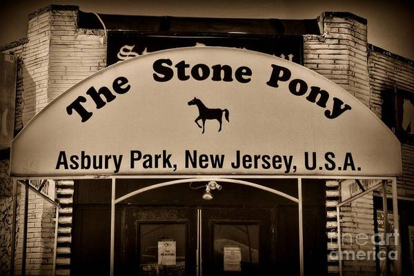 Wall Art - Photograph - Stone Pony Enter Here by Paul Ward