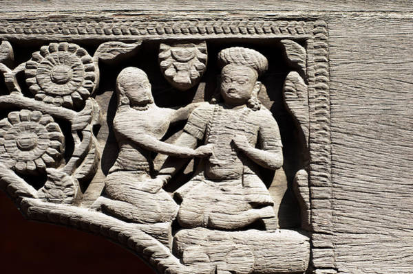 Photograph - Stone Relief In Patan's Durbar Square by U Schade