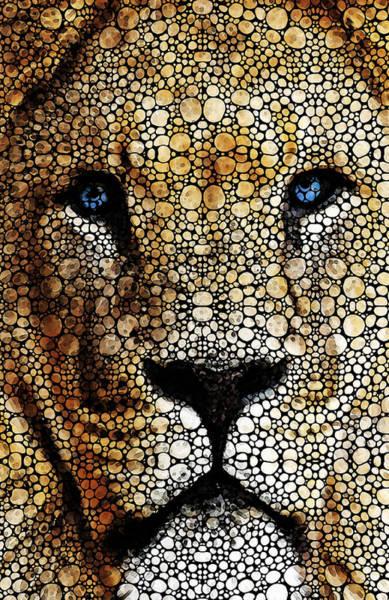 Painting - Stone Rock'd Lion 2 - Sharon Cummings by Sharon Cummings