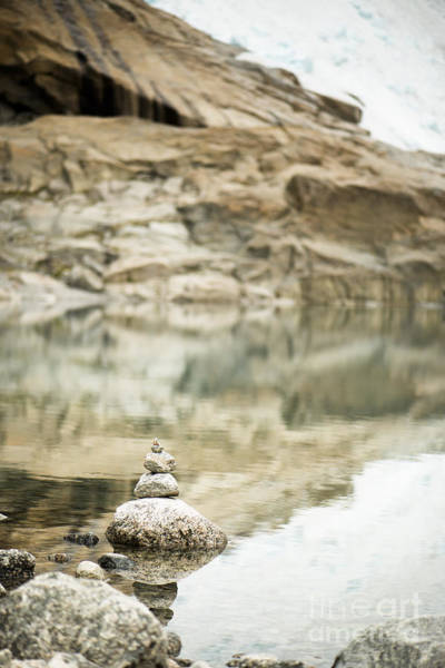Wall Art - Photograph - Stone Stack Pool by Anne Gilbert