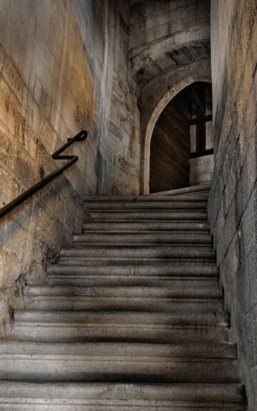 Photograph - Stone Stairway Place Of The Popes Avignon France by Bob Coates