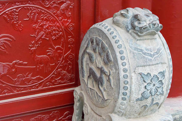 Wall Art - Photograph - Stone Statue In Ancient Guangyuelou by Keren Su