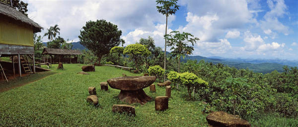 Flores Photograph - Stone Table With Seats, Flores Island by Panoramic Images