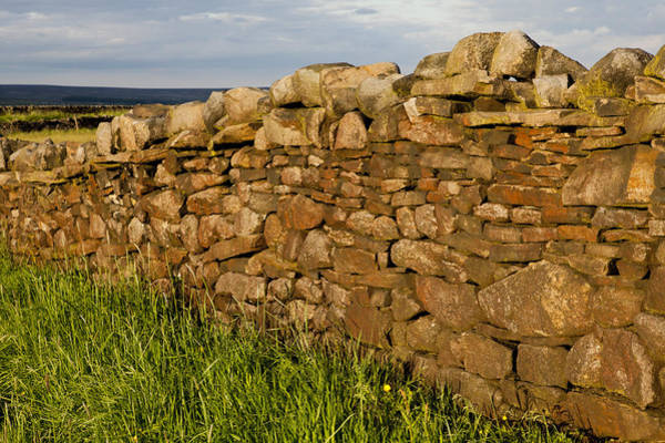 Surroundings Photograph - Stone Wall In Rural Landscape by Nancy Honey