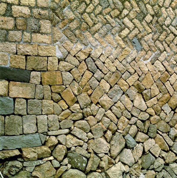 Taiwanese Wall Art - Photograph - Stone Wall by Mark De Fraeye/science Photo Library