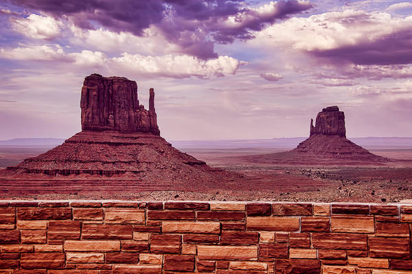 Wall Art - Photograph - Stone Wall Monument Valley by Garry Gay