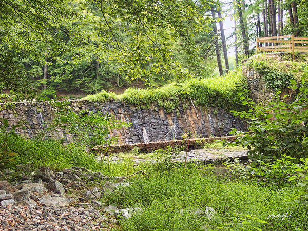 Photograph - Stone Wall - Pocahontas State Park by Paulette B Wright