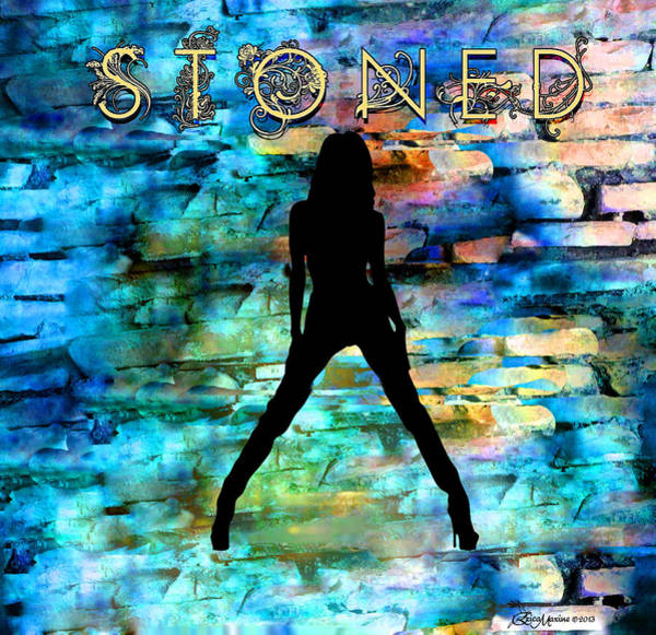 Digital Art - Stoned - Featured In Comfortable Art - Contours And Silhouettes - And Visions Of The Night Groups by Ericamaxine Price
