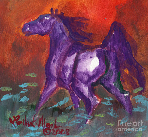 Painting - Stoneflur Cool Fire by Linda L Martin