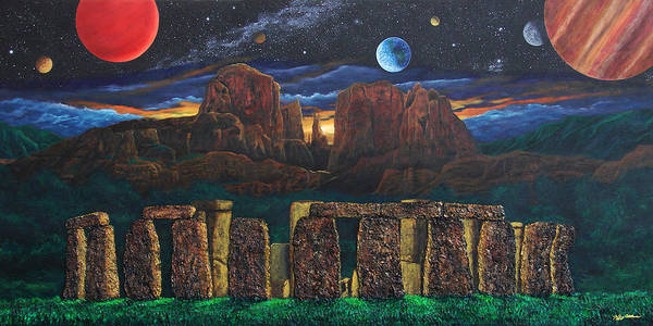 Painting - Stonehenge At Cathedral Rock by Jeffrey Oldham