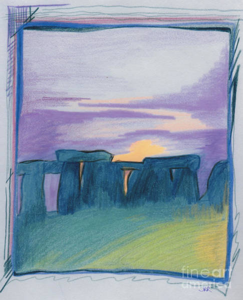 Jrr Drawing - Stonehenge Blue By Jrr by First Star Art