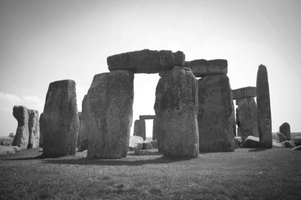 Photograph - Stonehenge In Black And White by Sharon Popek