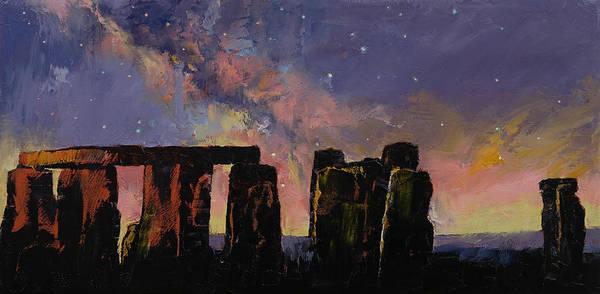 Druid Wall Art - Painting - Stonehenge by Michael Creese