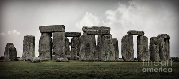 Stone Age Wall Art - Photograph - Stonehenge -- Mood 2 by Stephen Stookey