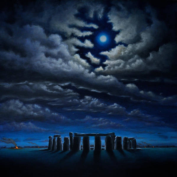 Painting - Stonehenge - The People's Circle by Ric Nagualero