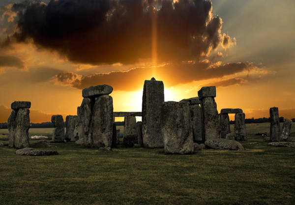 Druid Wall Art - Photograph - Stonehenge Wiltshire Uk by Martin Newman