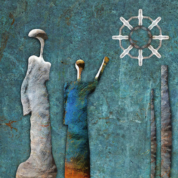 Symbolic Digital Art - Stonemen - 02201 by Variance Collections