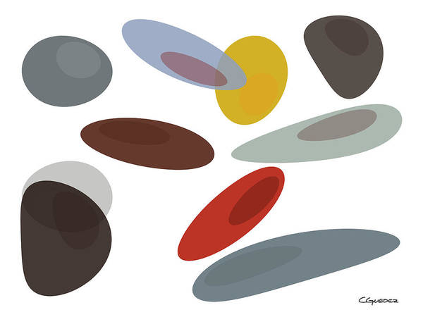 Painting - Stones Di by Carmen Guedez