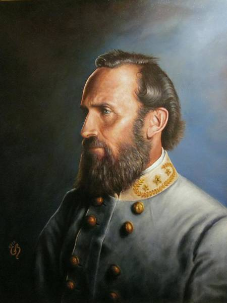 Military Painting - Stonewall Jackson by Glenn Beasley