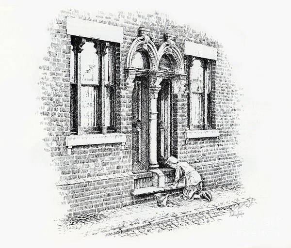 Wall Art - Drawing - Stoning Steps Middleport by Anthony Forster