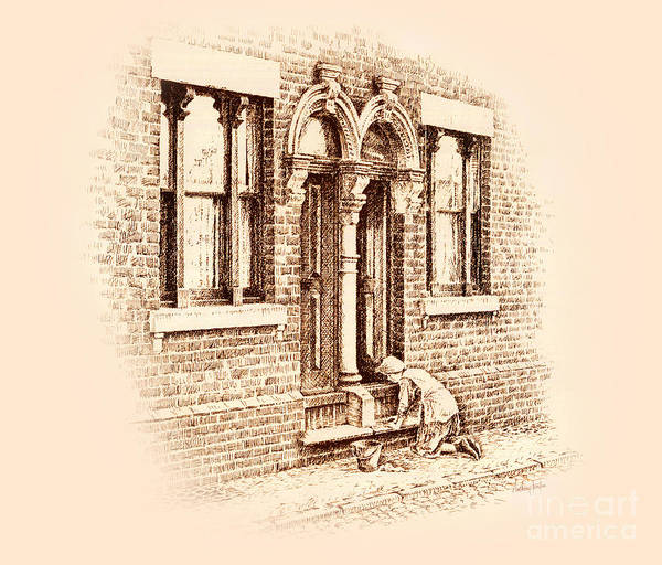 Wall Art - Drawing - Stoning The Steps by Anthony Forster