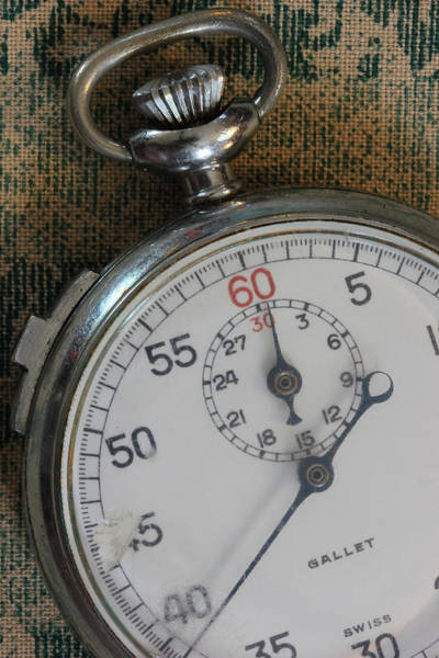 Wall Art - Photograph - Stop Watch 5 by Mary Bedy