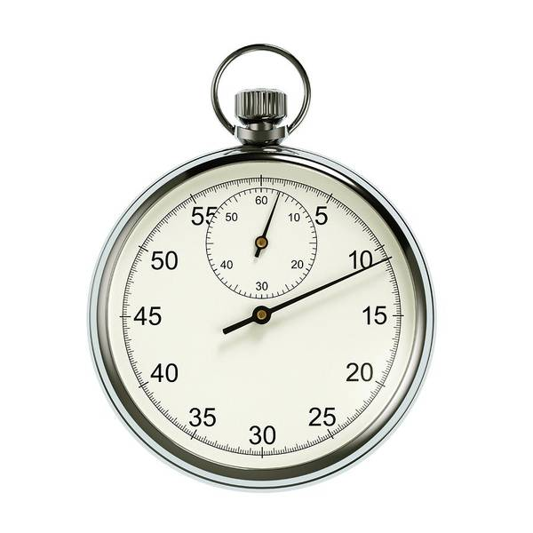 Dials Photograph - Stopwatch On White Background by David Parker