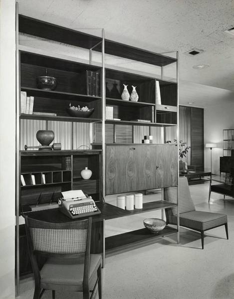 Desk Photograph - Storage Unit By Directional by Pedro E. Guerrero