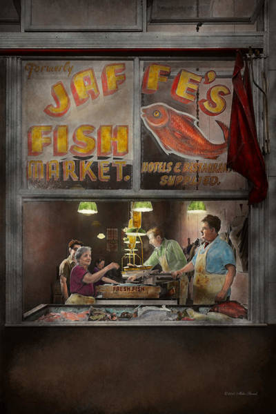 Photograph - Store - Fish Ny - Jaffe's Fish Market by Mike Savad