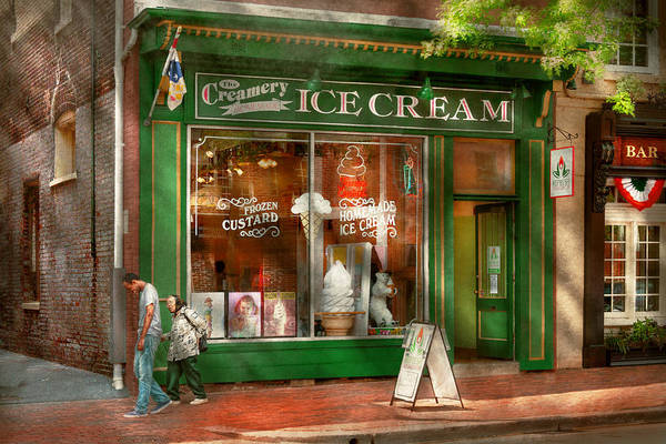 Photograph - Store Front - Alexandria Va - The Creamery by Mike Savad