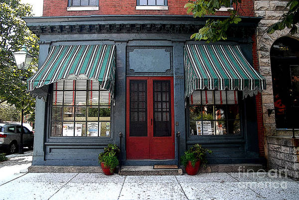 Photograph - Store Front With Awning by Walter Neal