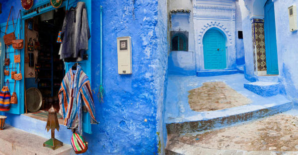 Chefchaouen Wall Art - Photograph - Store In A Street, Chefchaouen, Morocco by Panoramic Images