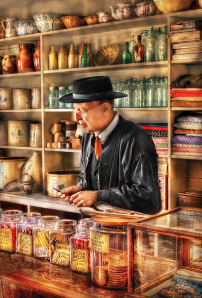 Grandpa Photograph - Store - In The General Store by Mike Savad