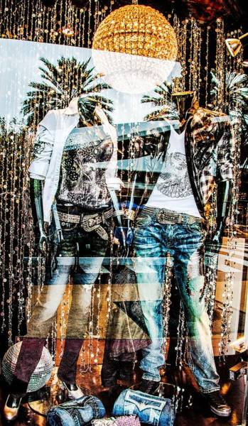 Dress Shop Photograph - Store Window Display by Rudy Umans