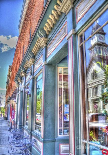Photograph - Storefront Reflection by Jim Lepard