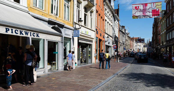 Window Shopping Photograph - Stores In A Street, Bruges, West by Panoramic Images
