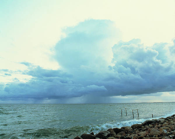 Cloud Type Wall Art - Photograph - Storm Approaching Coast by Martin Bond/science Photo Library