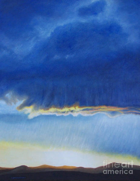 Wall Art - Painting - Storm At La Mesilla by Brian  Commerford