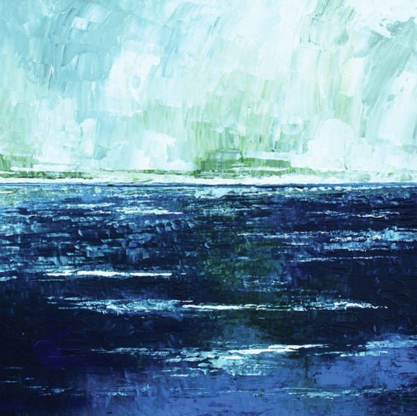 Skyscape Painting - Storm At Sea by Stuart Roy