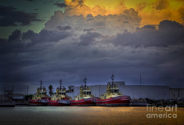 Port Of Tampa Wall Art - Photograph - Storm Brewing by Marvin Spates