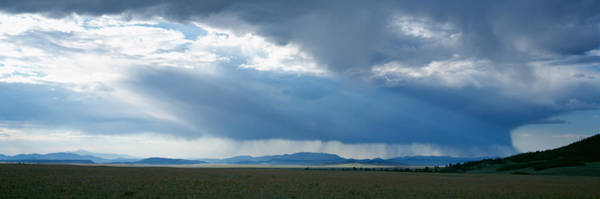 Weston Photograph - Storm Cloud Over A Landscape, Weston by Panoramic Images