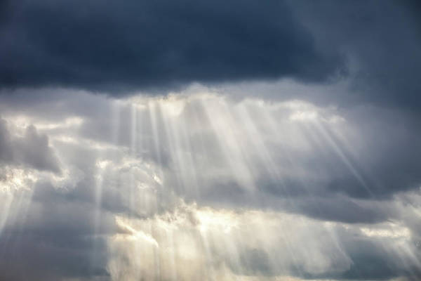 Sunlight Photograph - Storm Clouds & Sun Beams by Ryasick