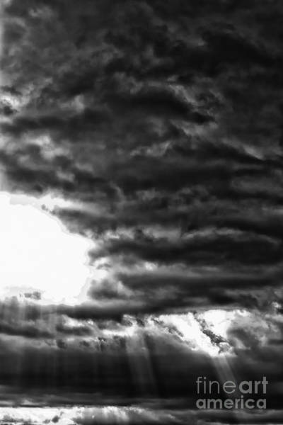 Photograph - Storm Clouds And Sun Rays by Thomas R Fletcher