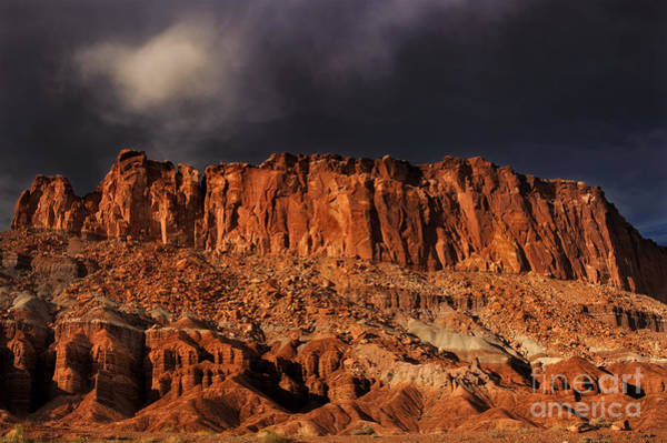 Photograph - Storm Clouds Capitol Reef National Park Utah by Dave Welling