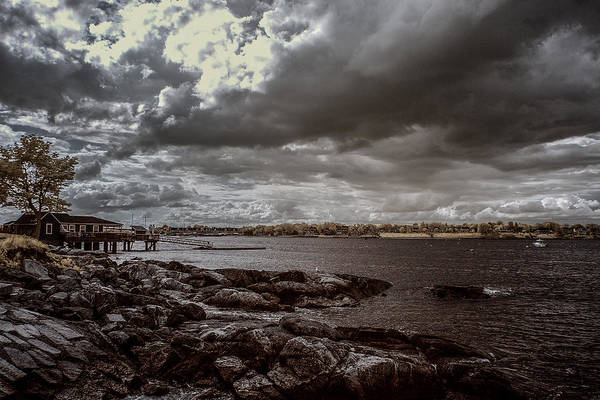 Photograph - Storm Clouds Over Beverly Harbor by Jeff Folger
