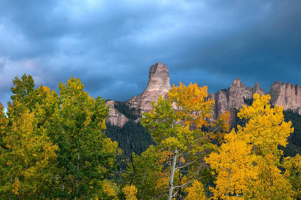 Photograph - Storm Clouds Over Chimney Rock by Steve Stuller