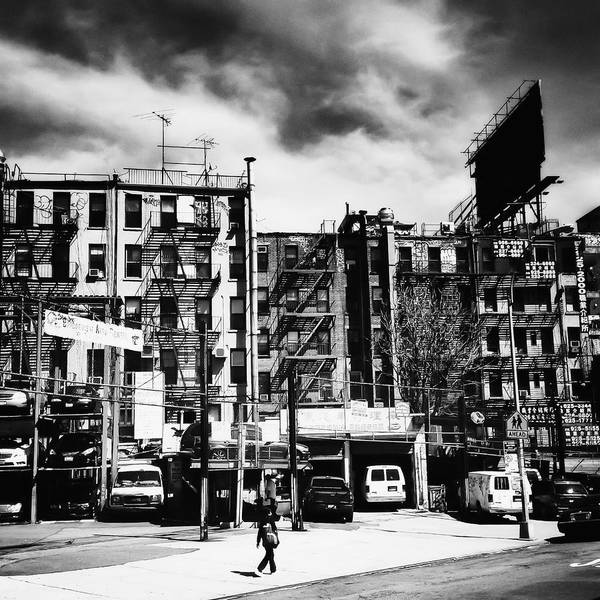 Tenement Photograph - Storm Clouds Over Chinatown - New York City by Vivienne Gucwa