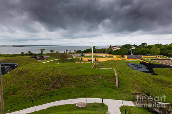 Photograph - Storm Clouds Over Fort Moultrie by Dale Powell
