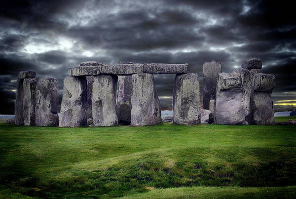 Storm Clouds Over Stonehenge Art Print