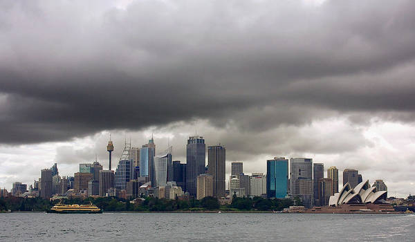 Photograph - Storm Clouds Over Sydney by Stuart Litoff